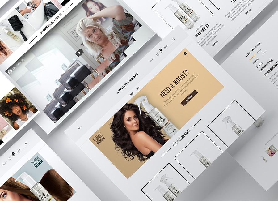 web design stylist website